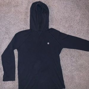 Element Brand Blue Long Sleeve Hoodie - Size M